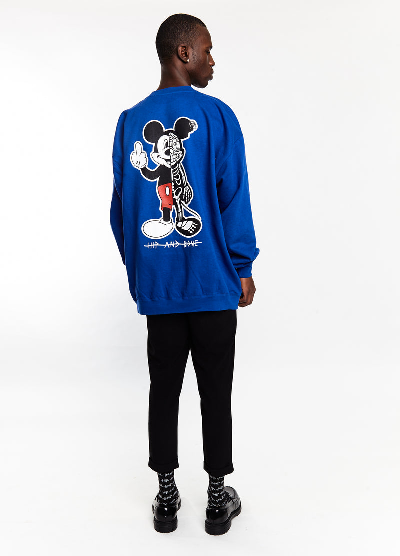 TWISTED MOUSE CREW ROYAL BLUE | Tops | HIP AND BONE