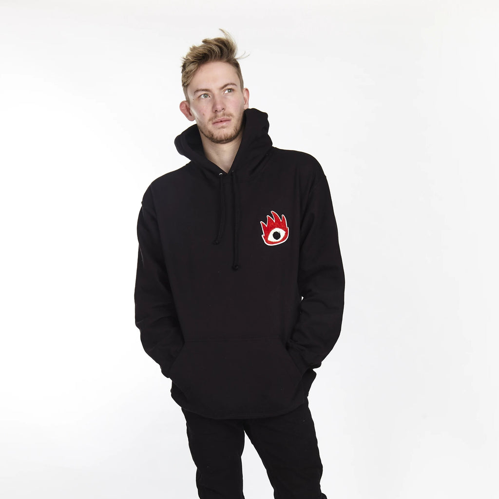FIRE EYE HOODIE BLACK - HIP AND BONE
