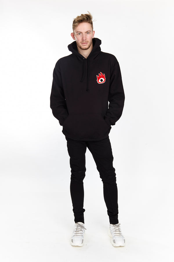 FIRE EYE HOODIE BLACK | Tops | HIP AND BONE