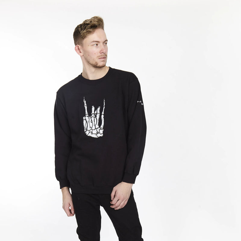ROCKER HAND CREW BLACK - HIP AND BONE