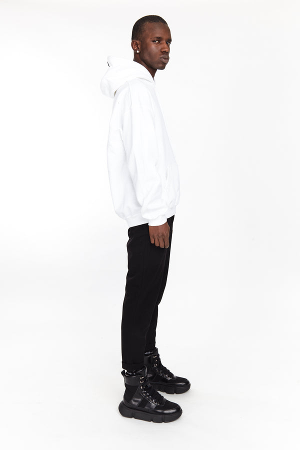 FIRE EYE HOODIE WHITE | Tops | HIP AND BONE