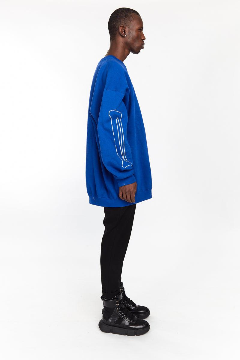 BONE SLEEVE CREW ROYAL BLUE - HIP AND BONE