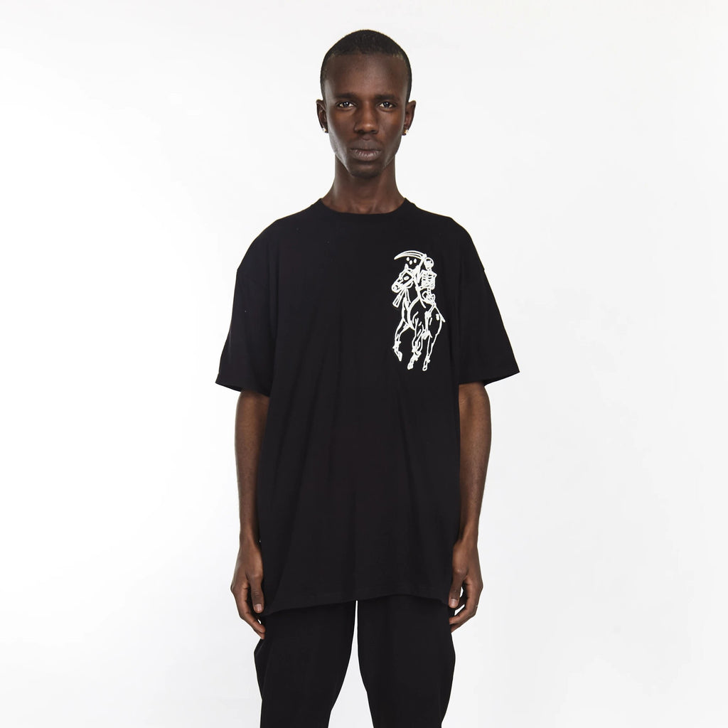 DEAD POLO TEE BLACK - HIP AND BONE