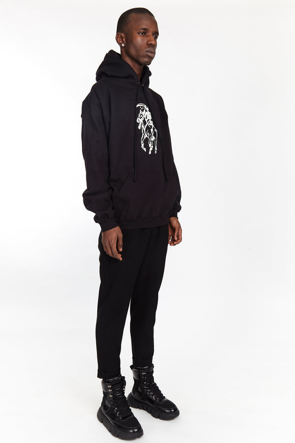 DEAD POLO HOODIE BLACK | Tops | HIP AND BONE