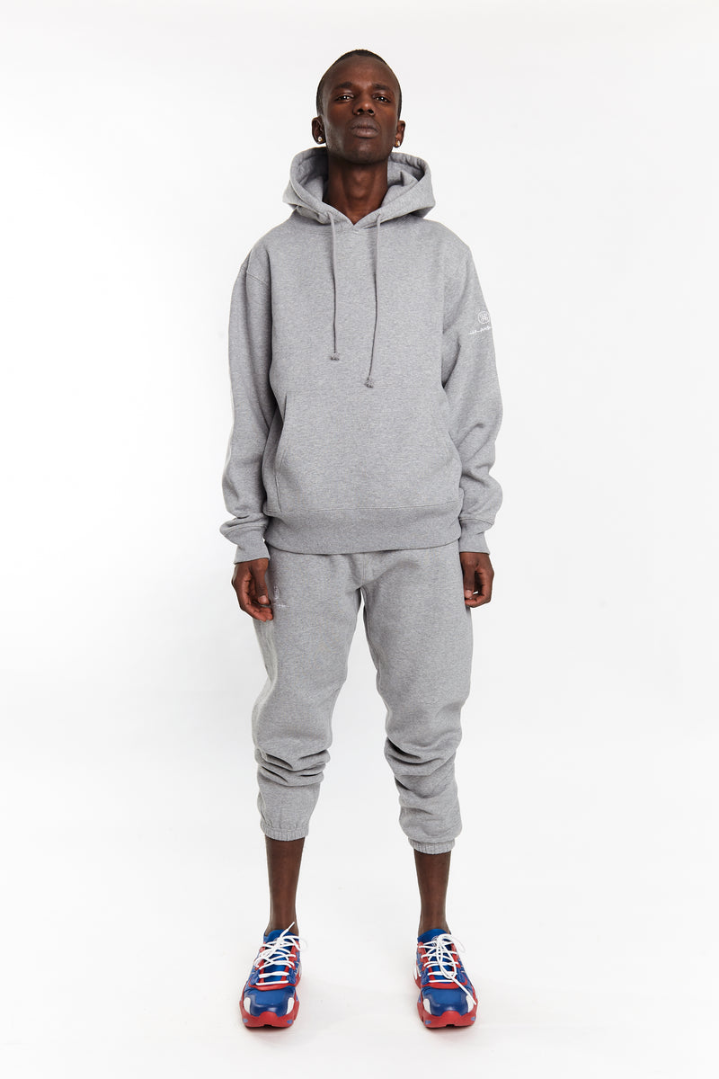 SOFTEST HOODIE EVER ESSENTIALS HEATHER GREY - HIP AND BONE