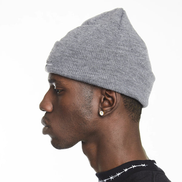 HIP AND BONE ROLL UP BEANIE GREY | Accessories | HIP AND BONE