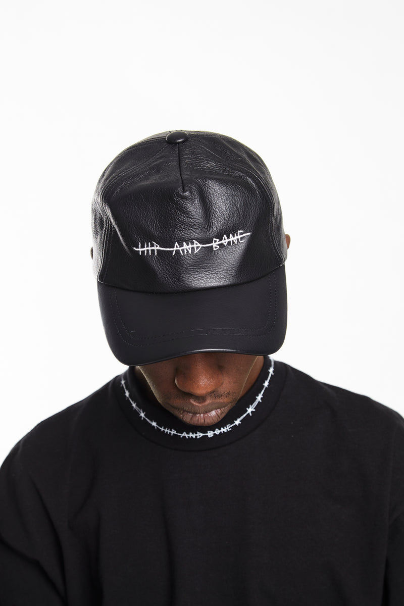 HIP AND BONE LEATHER CAP - HIP AND BONE