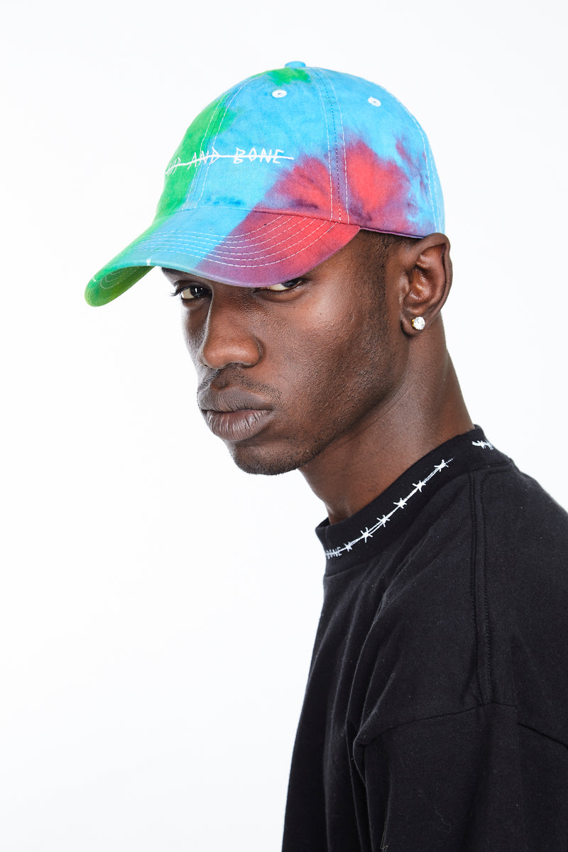 HAND TIE DYED DAD CAP MULTI RAINBOW - HIP AND BONE