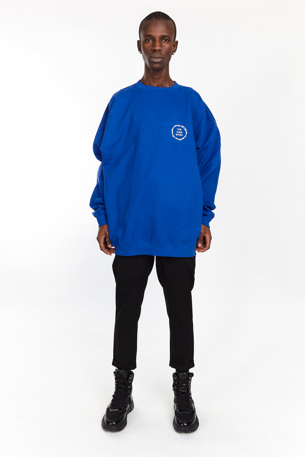 VICIOUS CIRCLE CREW ROYAL BLUE - HIP AND BONE