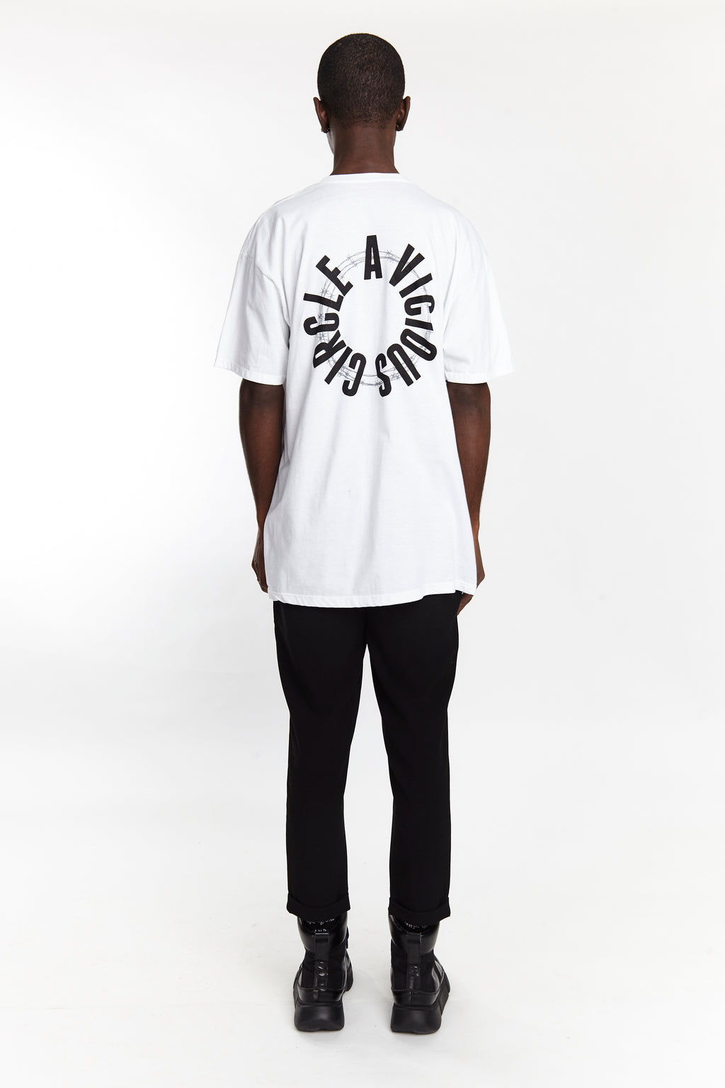 VICIOUS CIRCLE TEE WHITE - HIP AND BONE