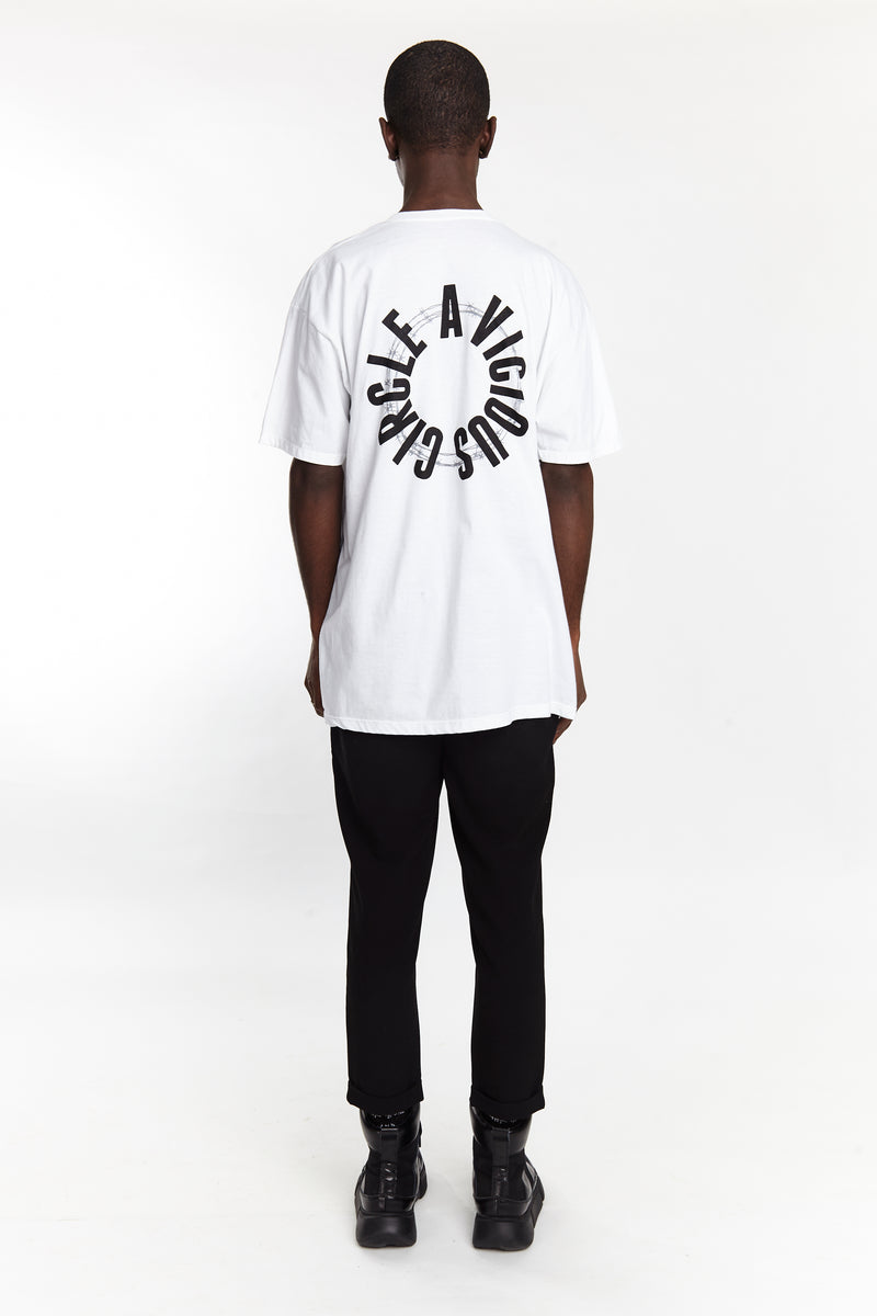 VICIOUS CIRCLE TEE WHITE | Tops | HIP AND BONE
