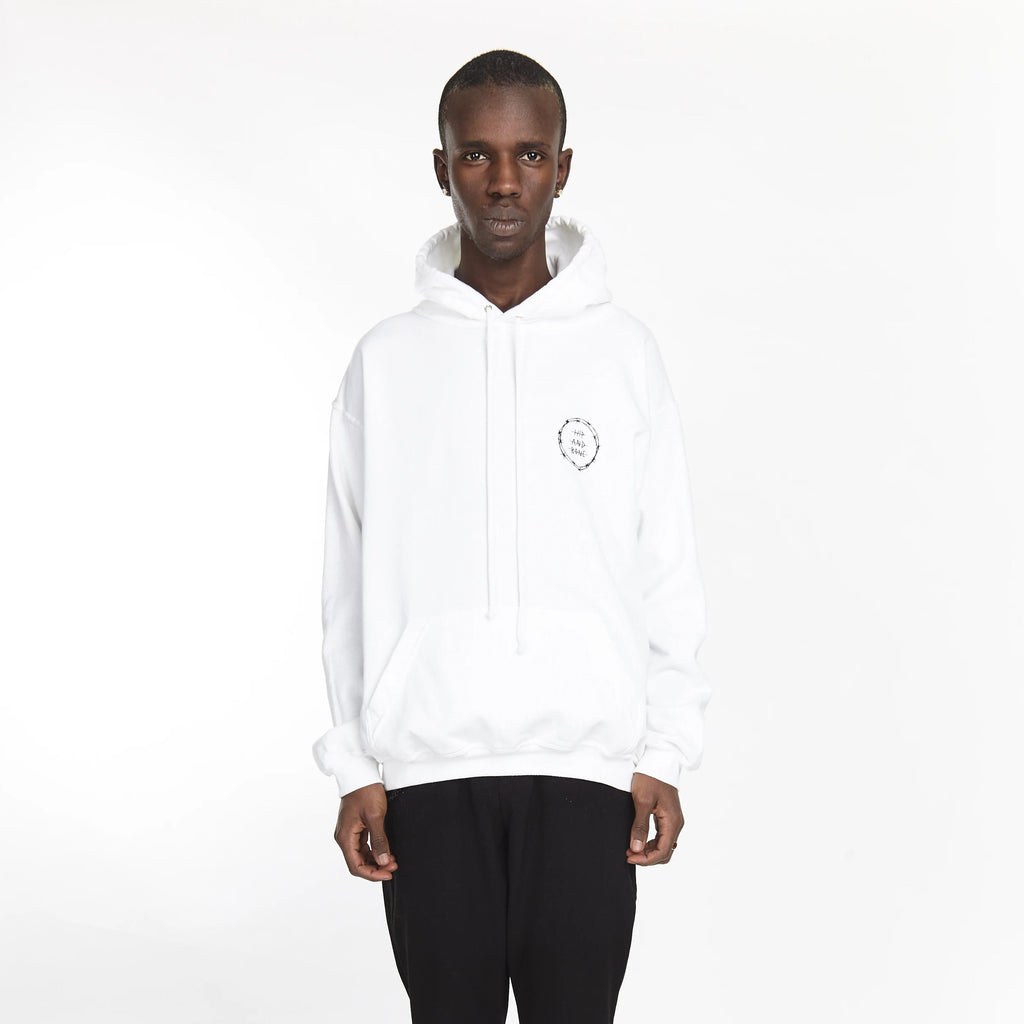 VICIOUS CIRCLE HOODIE WHITE - HIP AND BONE