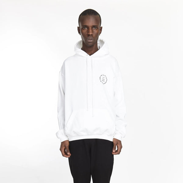 VICIOUS CIRCLE HOODIE WHITE | Tops | HIP AND BONE