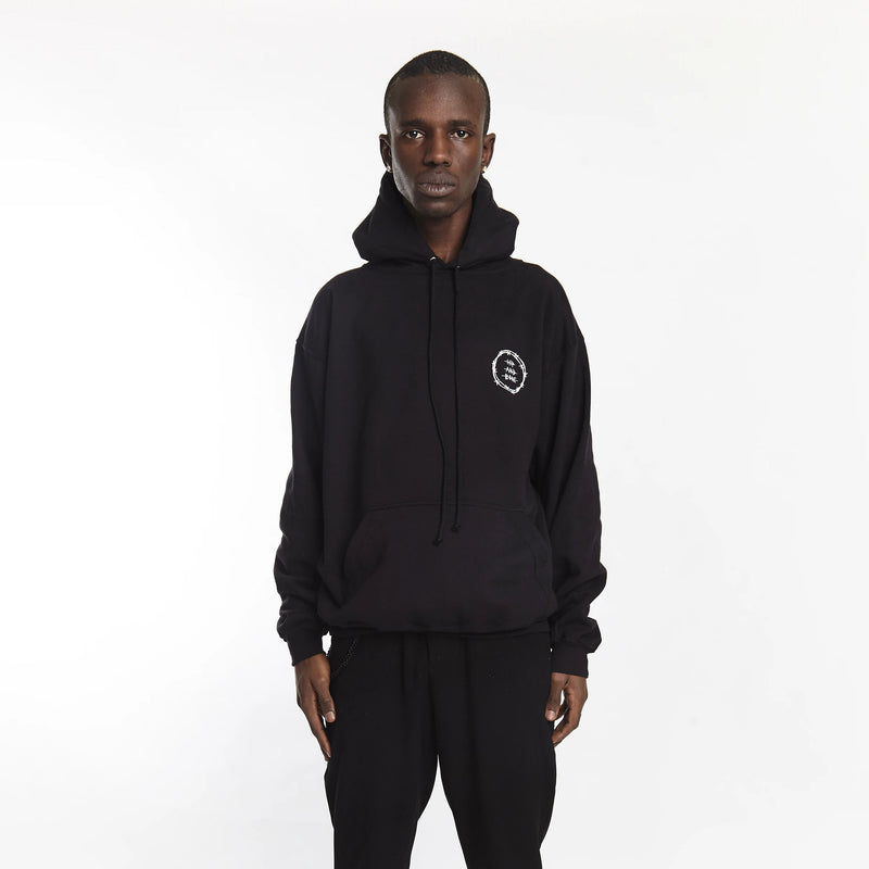 VICIOUS CIRCLE HOODIE BLACK - HIP AND BONE