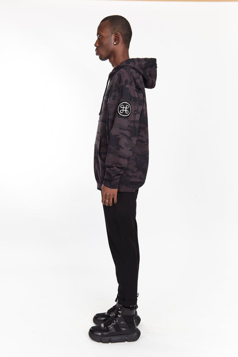 NIGHT CAMO HOODIE - HIP AND BONE