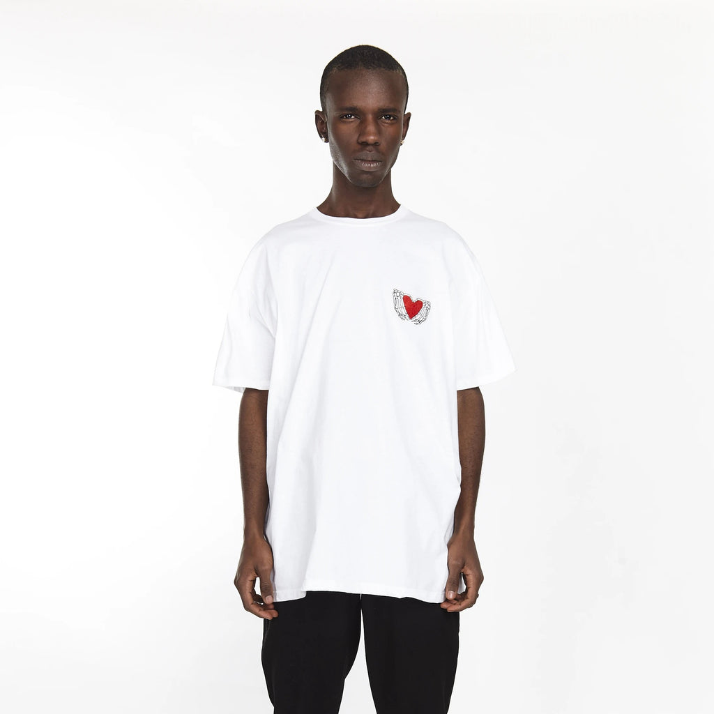 HEARTED HANDS TEE WHITE
