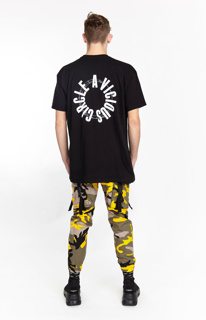 VICIOUS CIRCLE TEE BLACK - HIP AND BONE