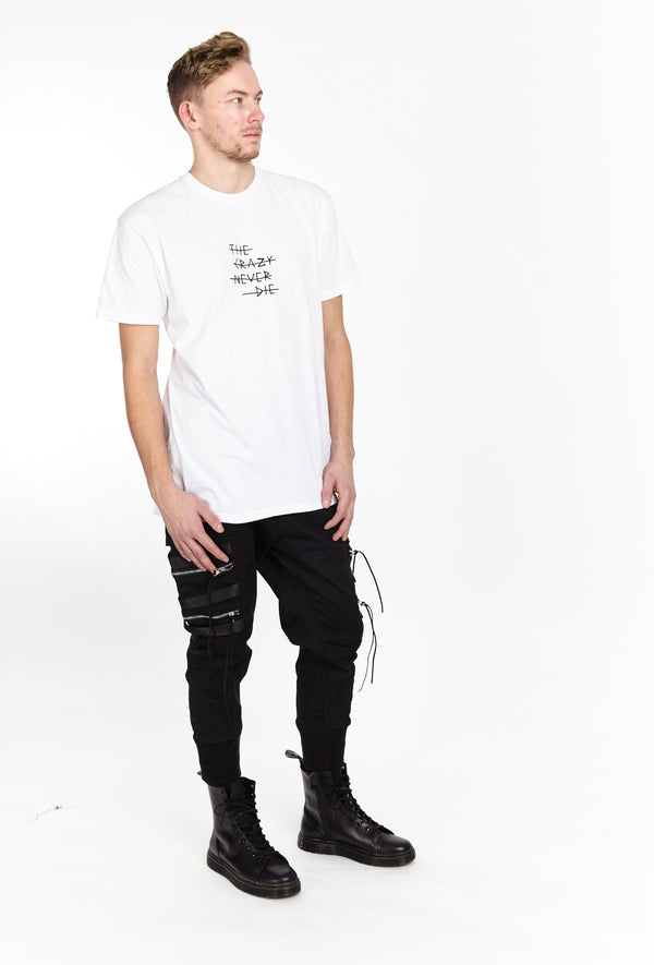 THE CRAZY NEVER DIE TEE WHITE | Tops | HIP AND BONE