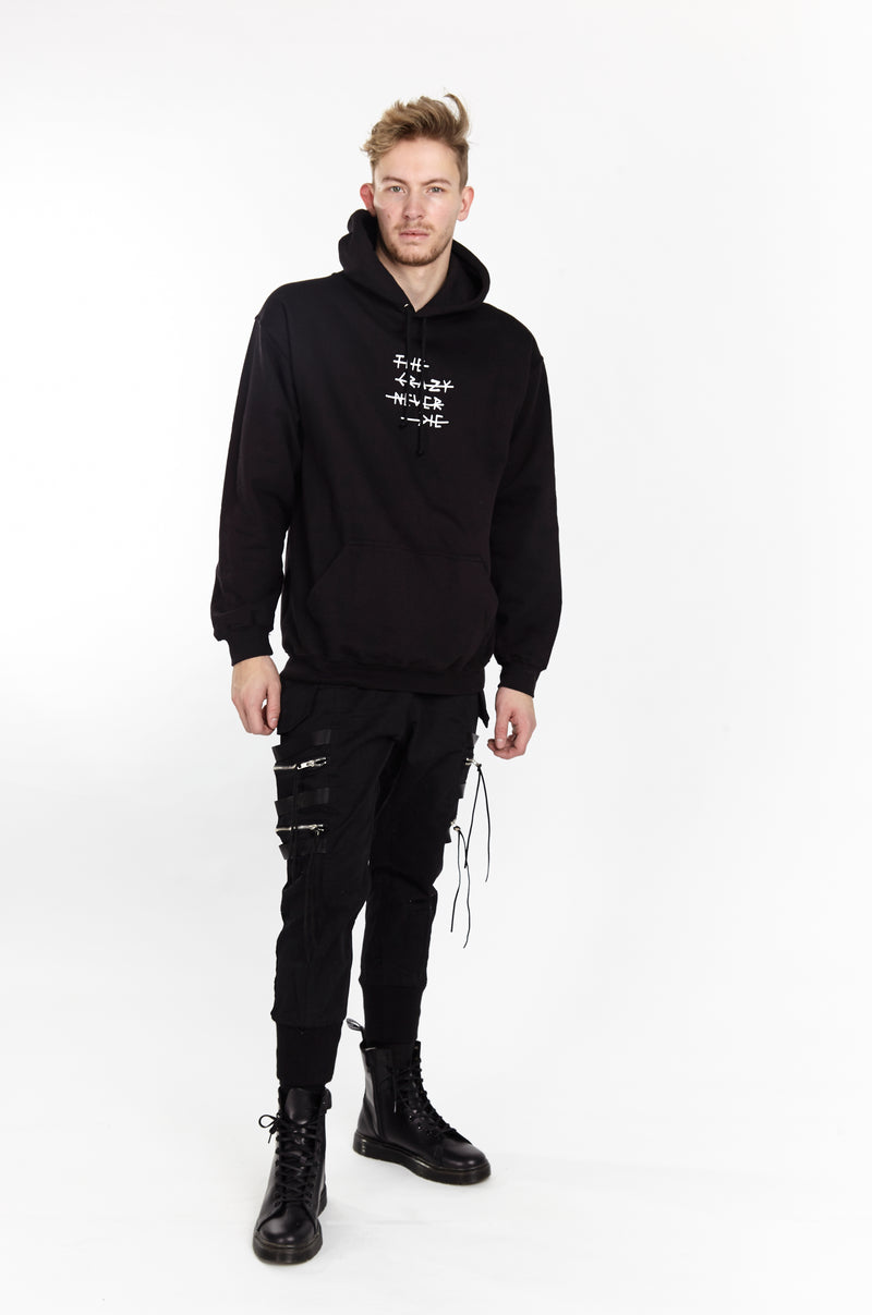 THE CRAZY NEVER DIE HOODIE BLACK - HIP AND BONE
