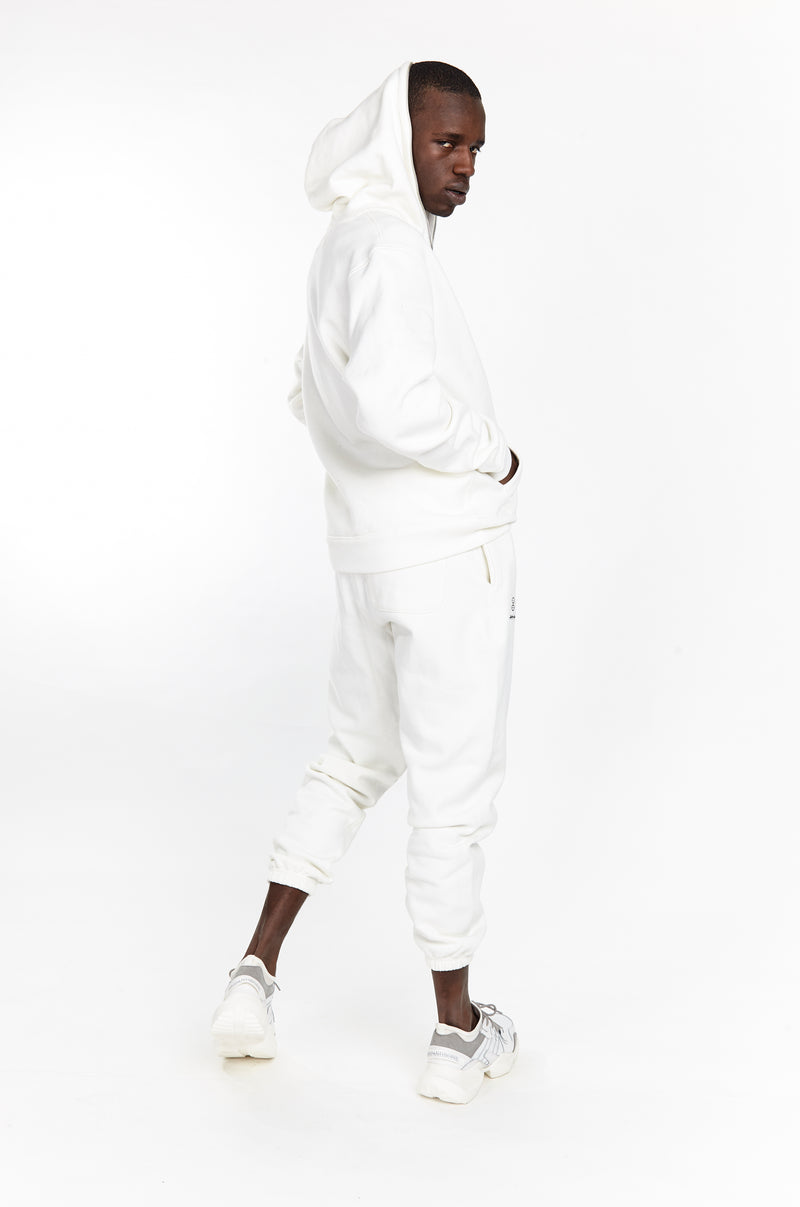 SOFTEST ZIP UP HOODIE EVER ESSENTIALS WHITE - HIP AND BONE