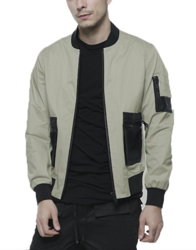 BOMBER JACKET / SAND - HIP AND BONE