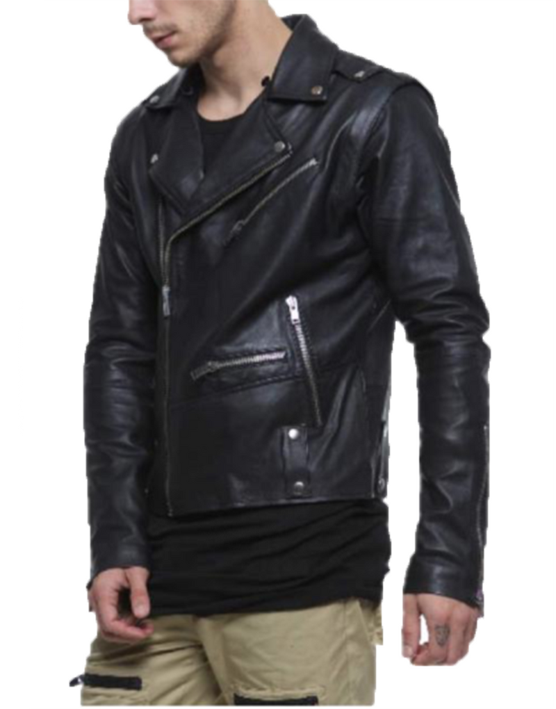 TUNNEL LEATHER BIKER JACKET / BLACK | outerwear | HIP AND BONE