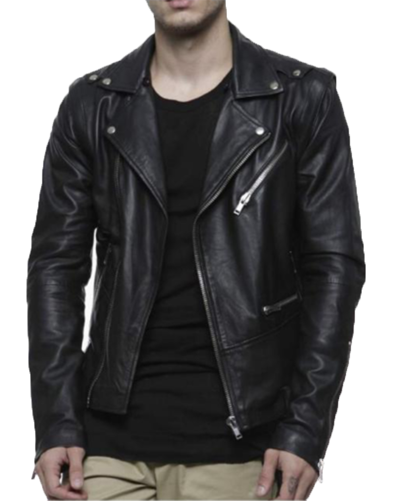 TUNNEL LEATHER BIKER JACKET / BLACK - HIP AND BONE