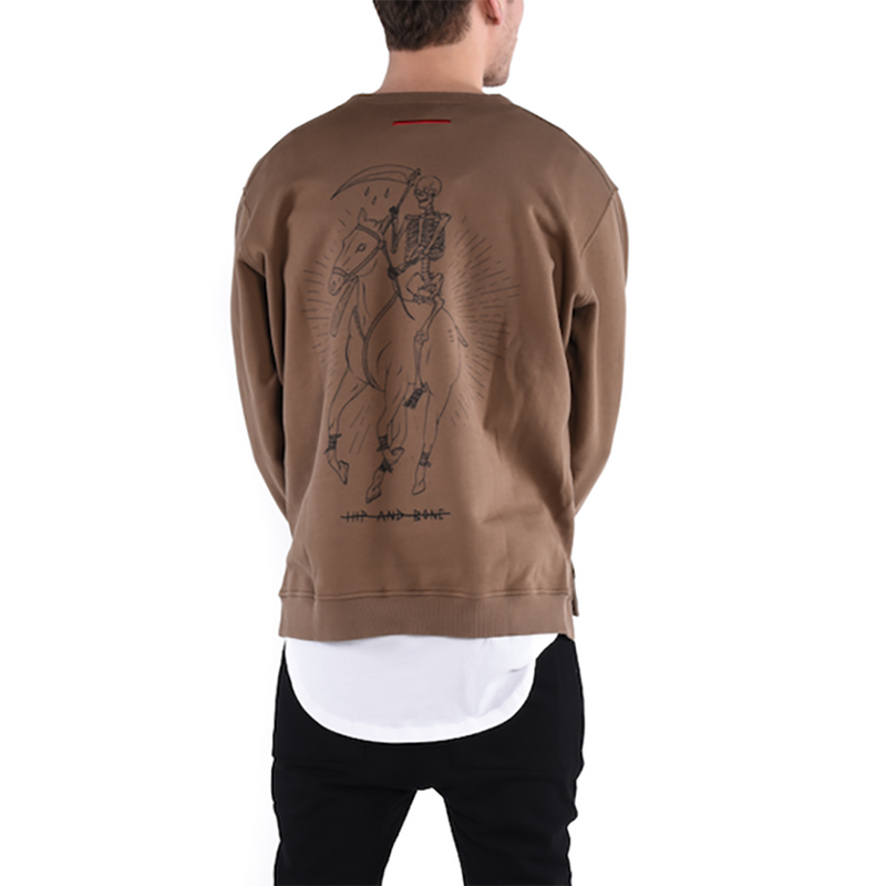 DEAD POLO CREWNECK / OLIVE - HIP AND BONE
