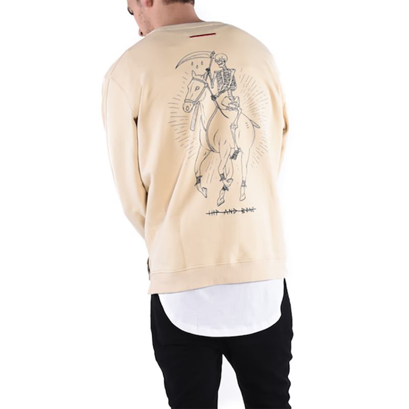 DEAD POLO CREWNECK / SAND - HIP AND BONE