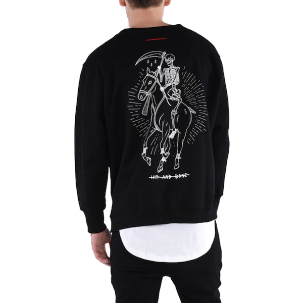 DEAD POLO CREWNECK / BLACK - HIP AND BONE