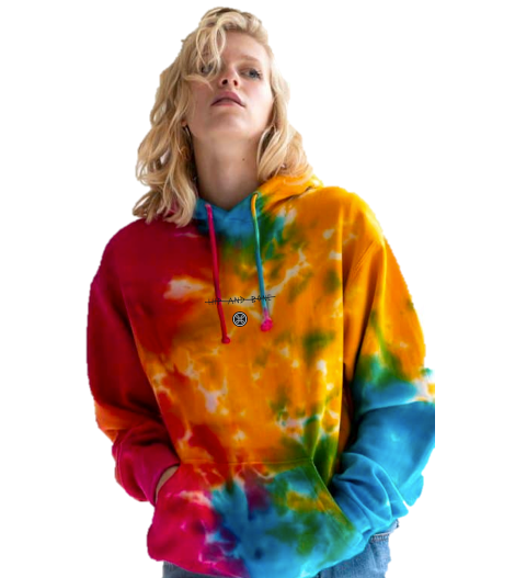 SPOT TIE DYE HOODIE MULTI RAINBOW | Tops | HIP AND BONE