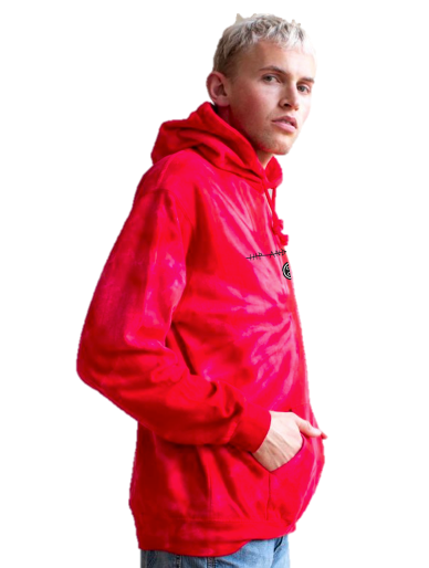 SPIDER TIE DYE HOODIE RED - HIP AND BONE