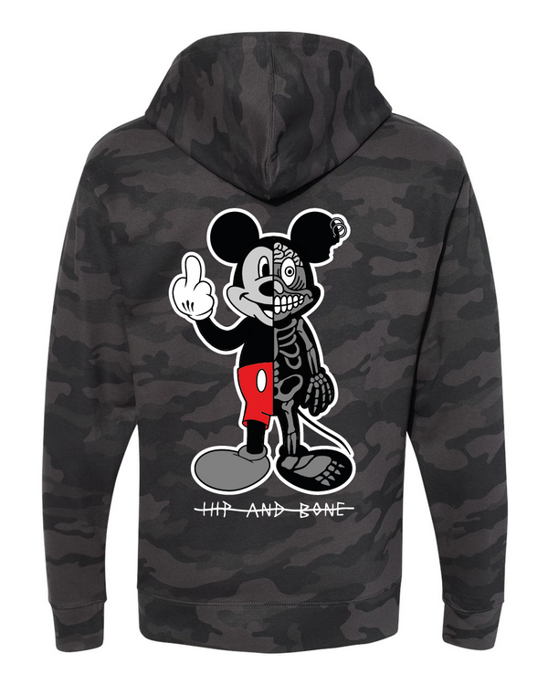 TWISTED MOUSE HOODIE CAMO