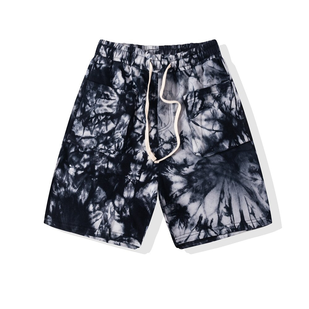 SOFTEST TIE DYE SHORTS EVER ELECTRIC BLACK - HIP AND BONE