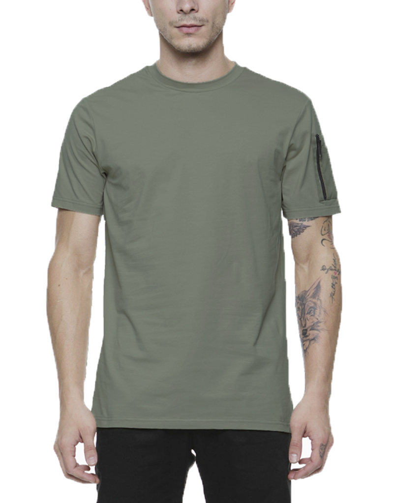 BOMBER TEE / OLIVE GREEN - HIP AND BONE