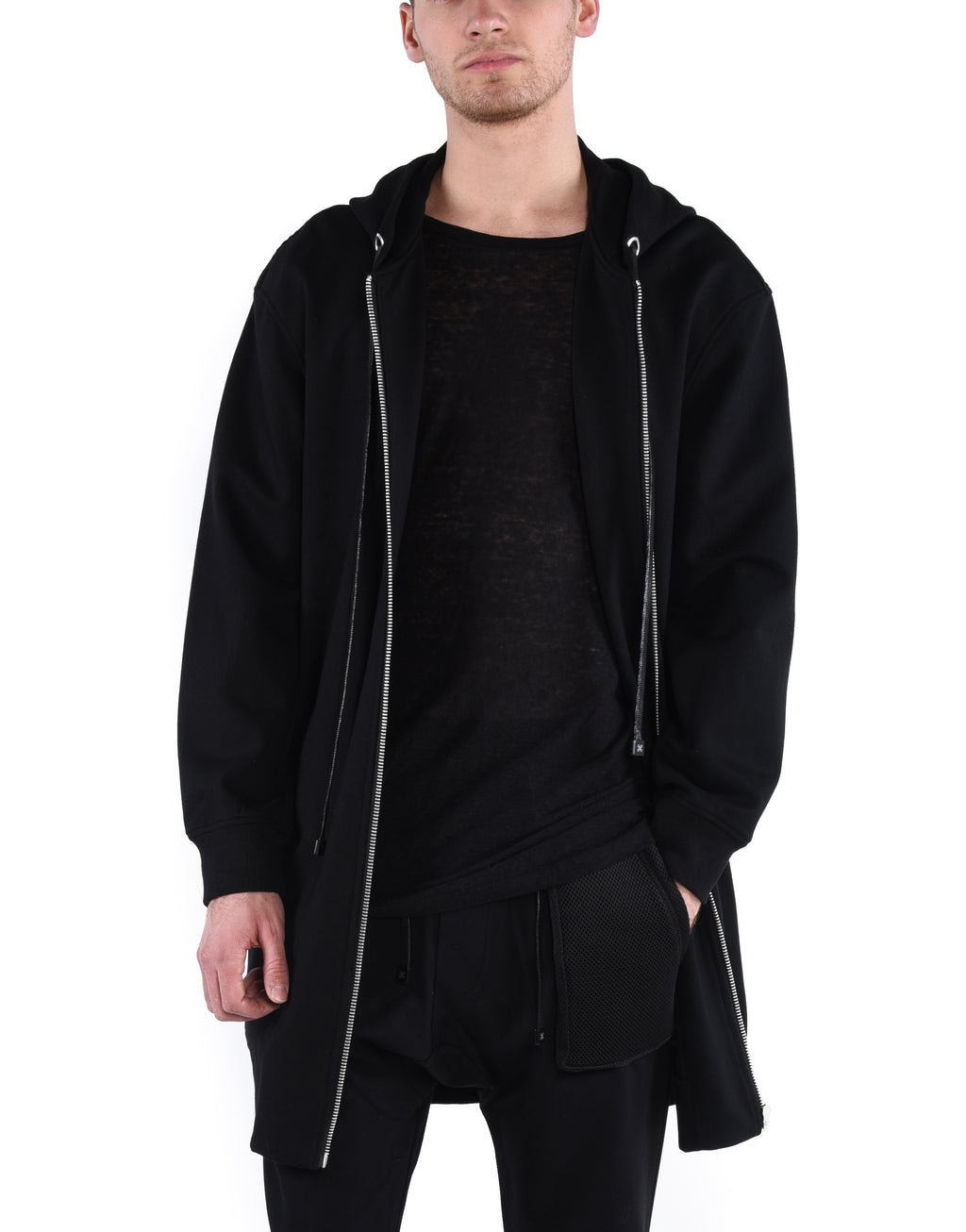 SHADOW NEOPRENE CLOAK / BLACK