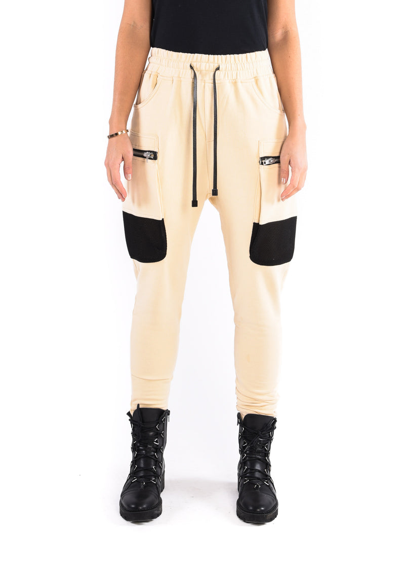 WOMEN'S PARACHUTE CARGO JOGGER / SAND - HIP AND BONE