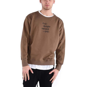 NEVER DIE CREWNECK/ OLIVE - HIP AND BONE