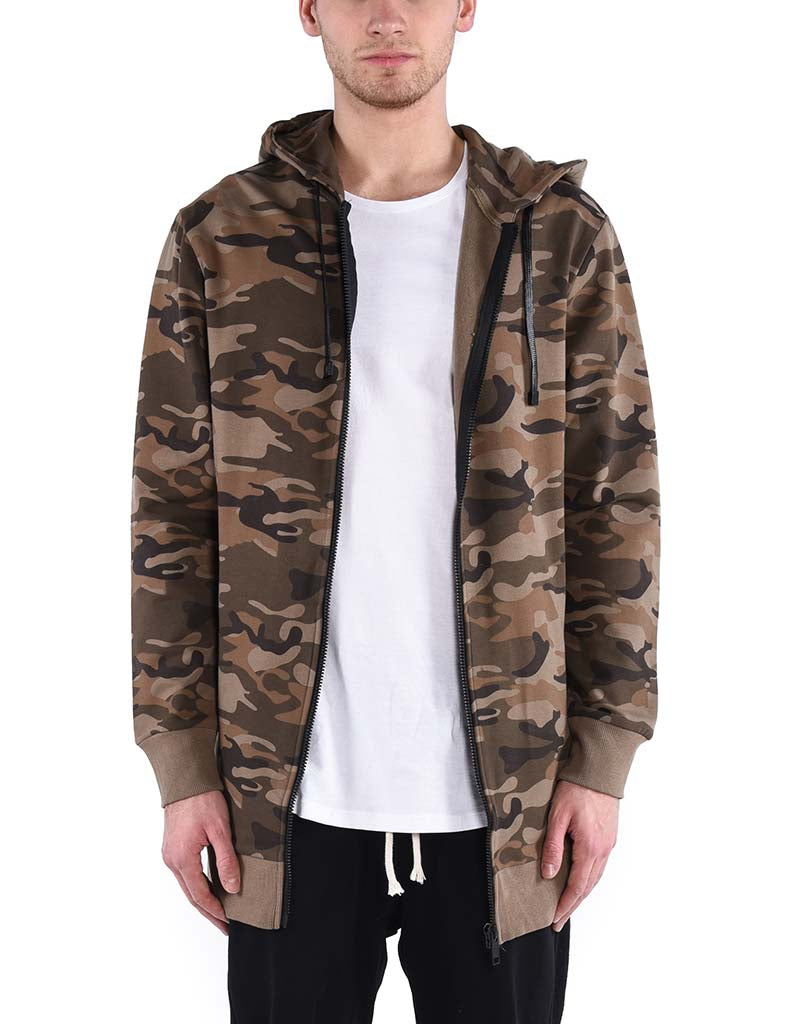 SHADOW ZIP UP HOODIE CAMO - HIP AND BONE