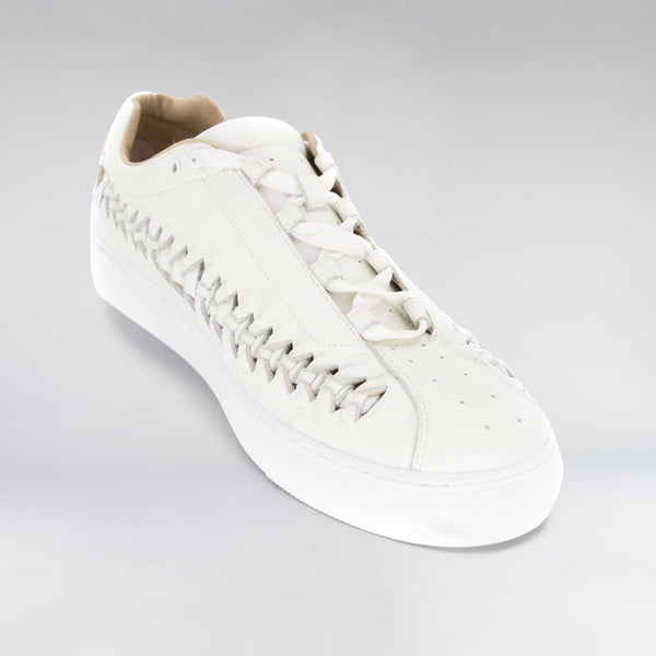 LEATHER WIRE RUNNER - BONE WHITE LEATHER | Shoes | HIP AND BONE
