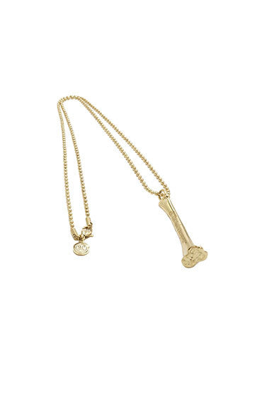 BONE BALL CHAIN NECKLACE GOLD