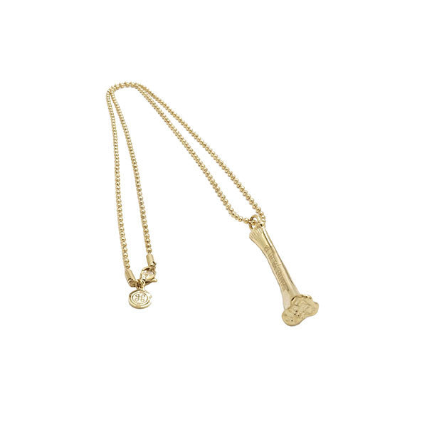 BONE BALL CHAIN NECKLACE GOLD - HIP AND BONE