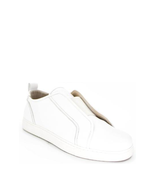 FLY LEATHER SNEAKER SLIP-ON / WHITE