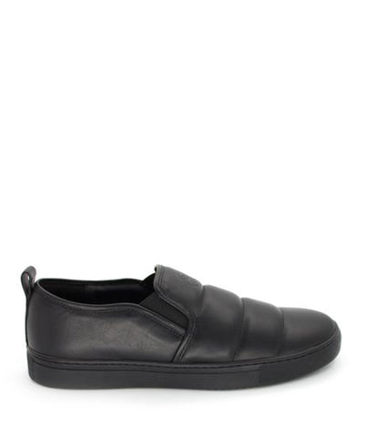 LEATHER FLY SLIP-ON / BLACK