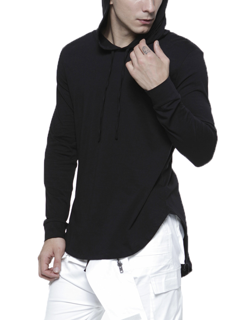 PIMA HOODIE / BLACK - HIP AND BONE