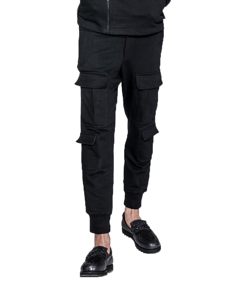 SHANGHAI CARGO JOGGERS BLACK - HIP AND BONE