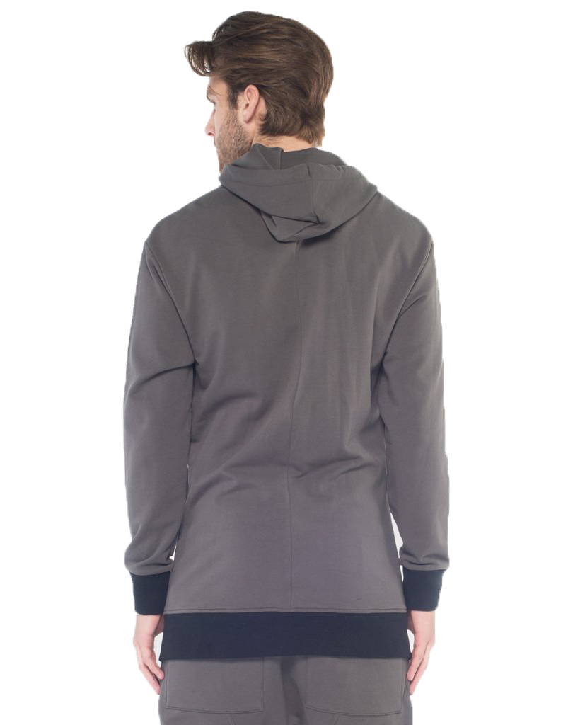 SHADOW HOODIE / CHARCOAL - HIP AND BONE