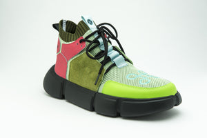 BLOCK SHOE MILITARY MULTICOLOR - HIP AND BONE