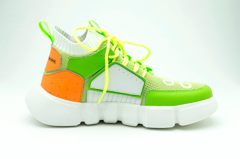 BLOCK SHOE LEMON LIME ORANGE - HIP AND BONE