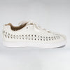 LEATHER WIRE RUNNER - BONE WHITE LEATHER - HIP AND BONE